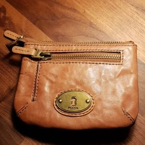 Fossil leather brown wallet